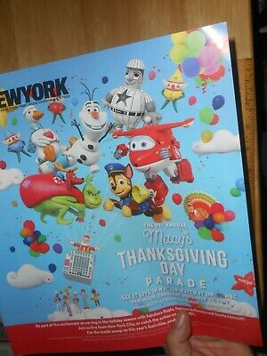 Macy's 91st Thanksgiving Day Parade, Promo AD, Lists Balloons Floats Talent 2017