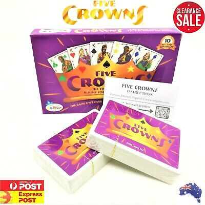 Five Crowns Game Party Card Games Cards  Rummy Style Play AU Melbourne stock