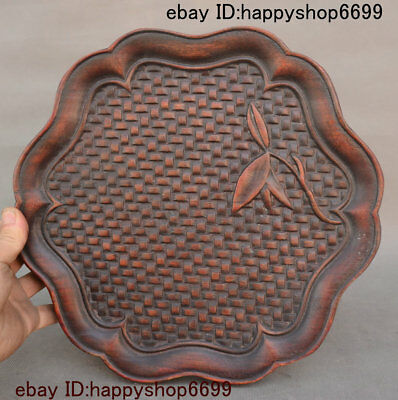 Old Chinese Yellow Huali Wood Tray Teaboard Tray Salver Saucer Pallet Tea-Things