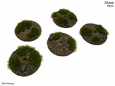32mm Round Flyer Resin Base Dirt/Grass Plains Tau Drone WH40K