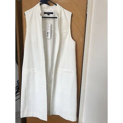 French Connection Sleeveless Jacket New Size 10 Clothing, Shoes, Accessories Women's Clothing