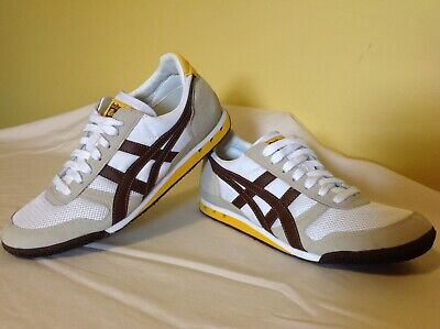 buy popular 361eb 719c7 Asics Onitsuka Tiger Ultimate 81 Shoes ~ White Brown Yellow Mens Size 7 ~  Hn201