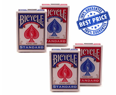 4 Decks | Bicycle USA Standard Playing Cards | Poker Card Game Magic Blackjack