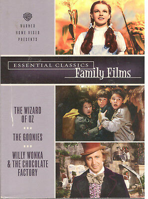 Wizard Of Oz-Goonies-Willy Wonka Chocolate Factory Essential Classic Family Film