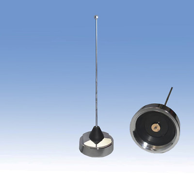 VHF MOBILE ANTENNA, 151-162 MHz, NMO, CHROME DOME 1/4 WAVE