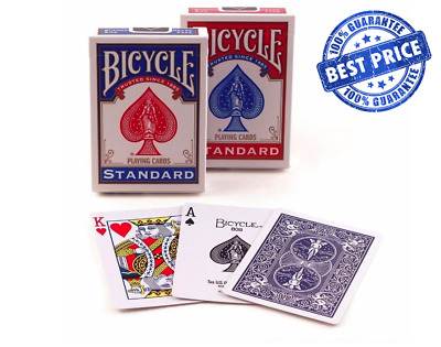 2 Decks | Bicycle USA Standard Playing Cards | Magic Poker Games Red Blue NEW