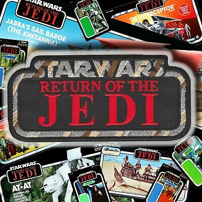 """ALL NEW 2019!!Kenner STAR WARS """"RETURN of the JEDI"""" Vintage style logo 5"""" patch"""