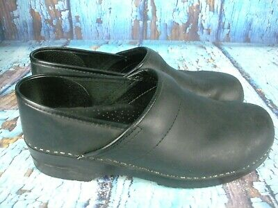 Comfort Shoes Considerate Dansko Professional Oiled Full Grain Leather Clog Women's Shoes Ebony Without Return