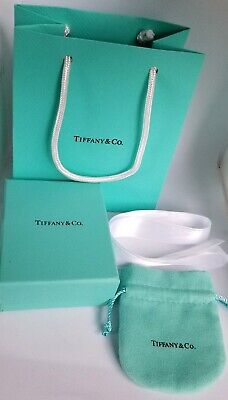 Tiffany & Co Gift Box, Pouch, Ribbon and a Gift Bag Authentic New Packaging