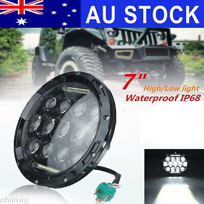 75W LED Fog Headlight DRL Hi/Lo Beam Lamp For JEEP CJ JK Wrangler Mercesdes Benz