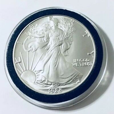 1988 American Silver Eagle BU 1 oz Coin US $1 Dollar U.S. Mint Uncirculated *88