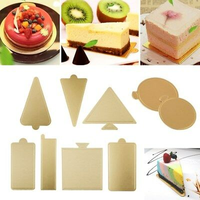 50pcs Various Shape Mousse Boards Disposable Cake Cardboard For Wedding Party