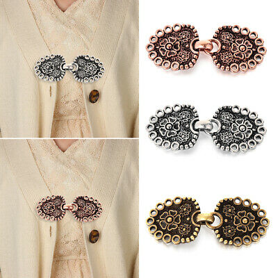 Winter Sewing Retro Clip Clasps Shawl Brooch Sweater Blouse Pin Cardigan Clip