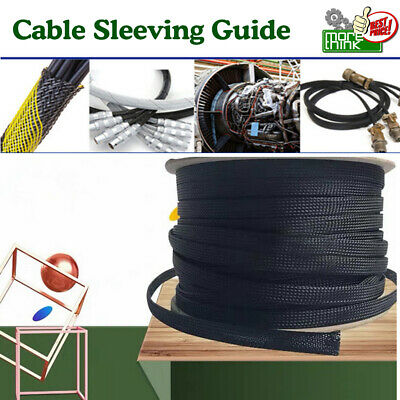 Cord Protector Exandable Cable Sleeving Sheathing Braided Wires Loom Tube Lot