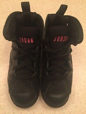 509aa4340f1 Nike Air Jordan 7 VII Retro GP Black Hyper Pink 442961-018 Toddler Size 13C
