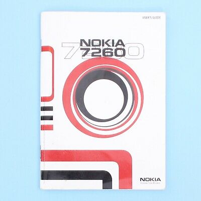 Nokia 7260 Mobile Phone Instruction Booklet Manual
