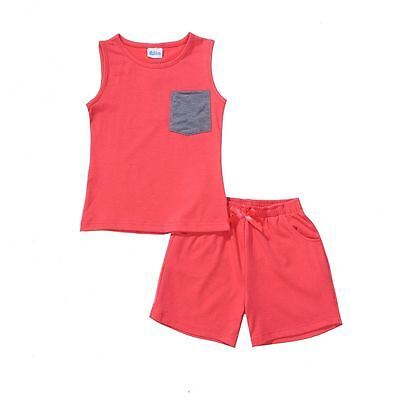Baby Girls Clothing Sets Red Sleeveless Top & Shorts Elastic Waist Party Gifts