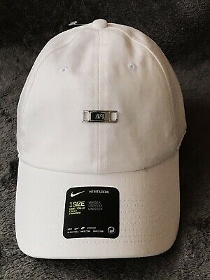 97625ebba416e Nike Air Force 1 AF1 White Heritage 86 Cap Hat 891282-100 Unisex Size OS