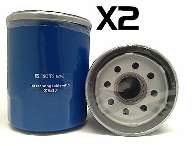2x Oil Filter Suits Z547 NISSAN PATHFINDER WX SERIES VG33E 6CYL 3.3L 1996-1998