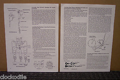 -Hermle Grandfather Clock Installation Operating Instructions 451-050 1161-853