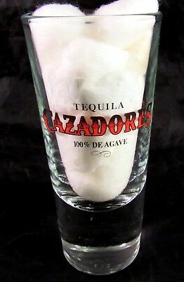 Tall Shooter Glass Tequila CAZADORES 100% De Agave Heavy Base 5 1/4 Inches