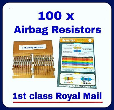 100 mixed PACK of AIRBAG RESISTOR  SRS mot warning light bypass all makes tool