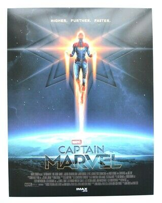"Authentic CAPTAIN MARVEL AMC IMAX 8.5"" X 11"" Small Poster MARVEL Brie Larson"