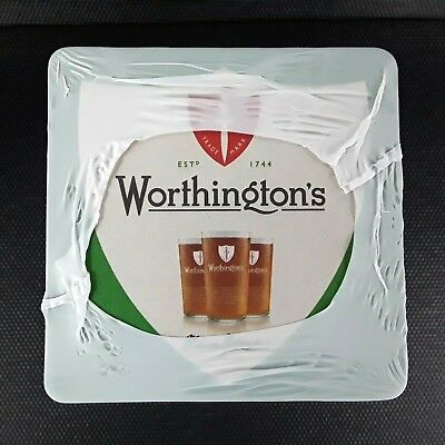 200 Worthingtons Beer Mats / Coasters Pub Bar Brand New & Sealed