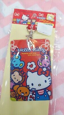 8e78c58c2 PINK HELLO KITTY Badge Lanyard ID Card Case Travelling Room Card ...