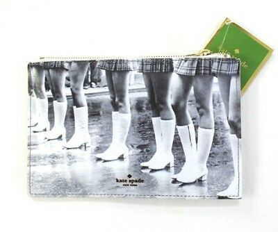 kate spade new york Pencil Pouch Kick Up Your Heels Retro Graphics Black & Cream