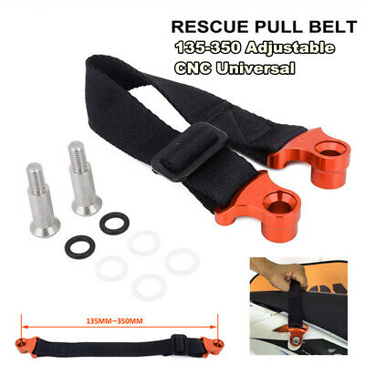 135mm-350mm Adjustable CNC Motocycle Rear Rescue Pull Bundle Belt Draw Leashes
