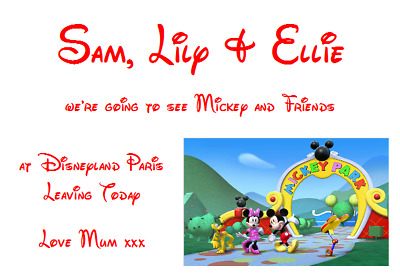 We Are Going To Disneyland Personalised Voucher Card Paris Florida Ticket #5