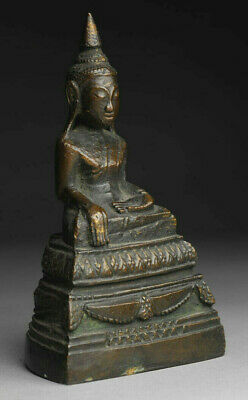 Alter Buddha Bronze Burma Thailand antique alt antik