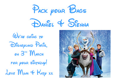 We Are Going To Disneyland Personalised Voucher Card Paris Florida Ticket #4