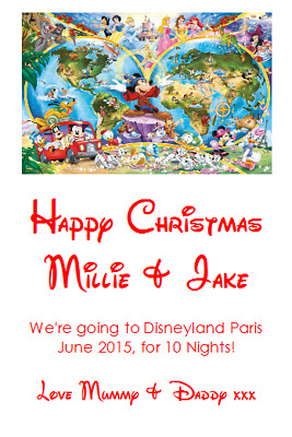 We Are Going To Disneyland Personalised Voucher Card Paris Florida Ticket #6