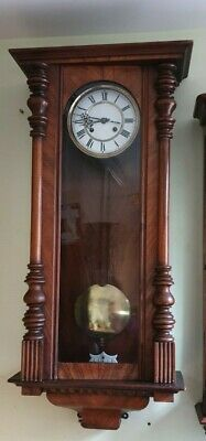 Vienna Mahogany Wall Clock with 8 Day Strike