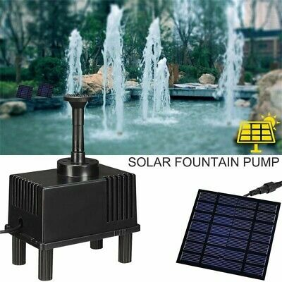 Solar Panel Power Fountain 180L/H Garden Pond Pump Kit With Filtering Sponge Set