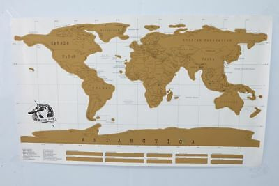 Deluxe Erase Black World Map Scratch off World Map Personalized Wall Stickers