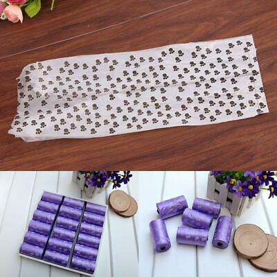 15pcs/1Roll Degradable Pet Waste Poop Bags Dog Cat Clean Up Refill Garbag C1O6