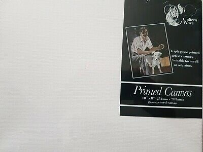 """Blank Artist Canvas Art Board Plain Painting Stretched Framed 10"""" x 8"""""""