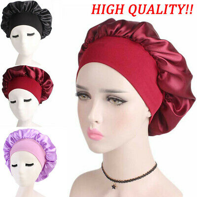 Women Pure Silk Sleep Cap Hat Sleeping Bonnet Hair Styling Protect Satin Scarves