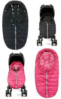 Mothercare Compact Cosytoes Universal Pushchair Stroller Footmuff - Black / Pink