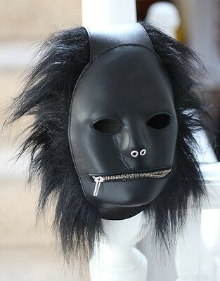 Real Leather Fetish Mask Gimp Hood Extreme BDSM fun - Dungeon must have!