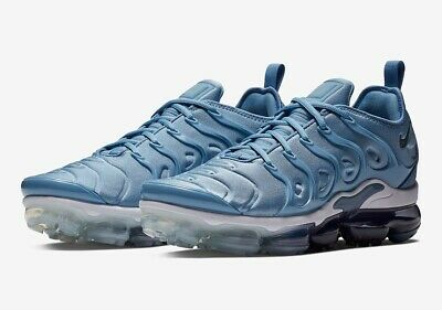 7800dab5a5 ORIGINAL MENS NIKE Air Vapormax Plus Work Blue Cool Grey Trainers ...