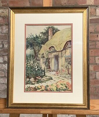 Stunning Original Early 20th Century Watercolour Of A Thatched Cottage
