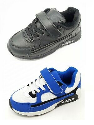 Children's Kids Boys Girls Sports Running Trainers Hook & loop Casual Size 8-11
