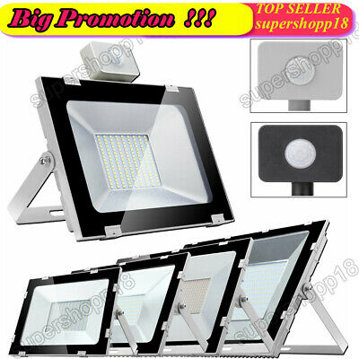 LED Floodlight Garden Security Light Cool / Warm White With/Without PIR Sensor