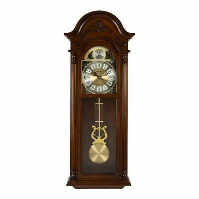 Rhythm Long Cased Wooden Pendulum Wall Clock