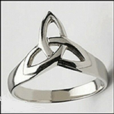 Stainless Steel Celtic Trinity Knot Ring SZ 6