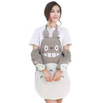 My Neighbor Totoro Aprons Oversleeve Cartoon Wear Vest Costume Funny for Kitchen